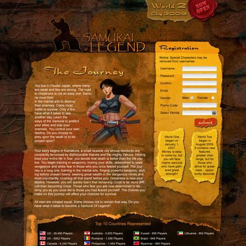 Samurai Themed Landing Page Needed
