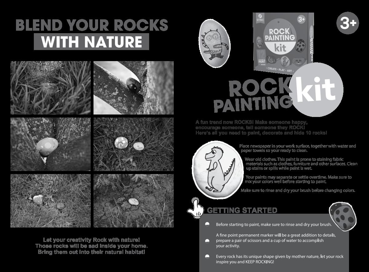 Rock Painting Kit Packaging