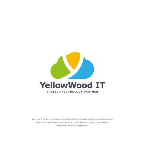 Logo design for Yellow Wood IT