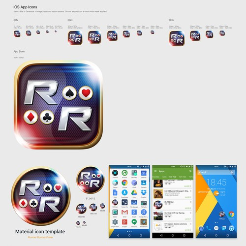 RRP app icons for both iOS and Android