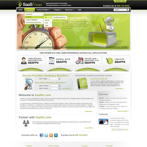 Cutting Edge Web Design for Software Technology Company