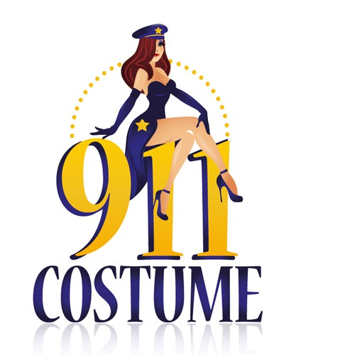 Bold logo for 911 Costume