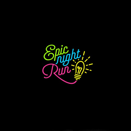 typography logo for epick night run