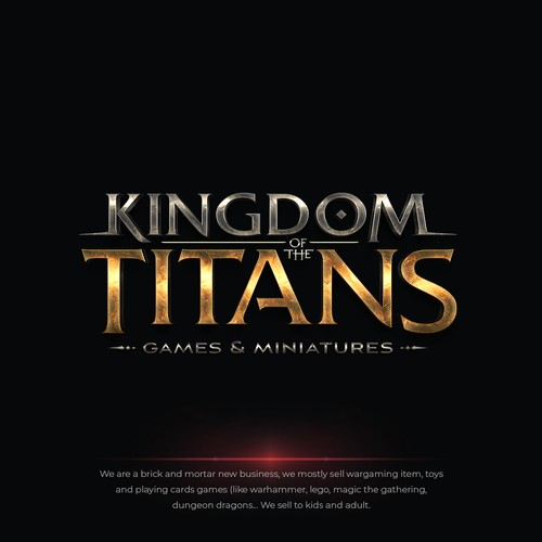Kingdom of the Titans Games & Miniatures Logo
