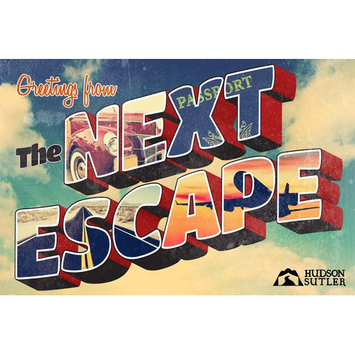 Next Escape: Vintage Postcard for Hudson Sutler