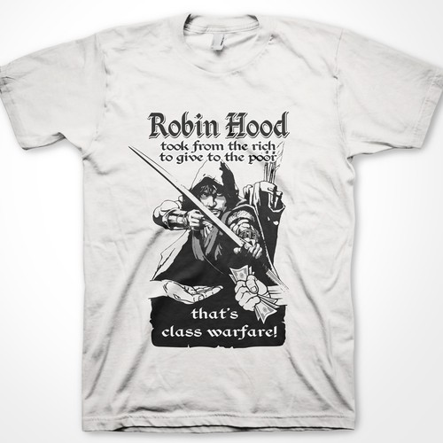 Robin Hood t-shirt design for Cheeky Cheeky Threads (contemporary)