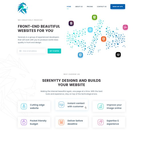 Serenyty Landing Page Design