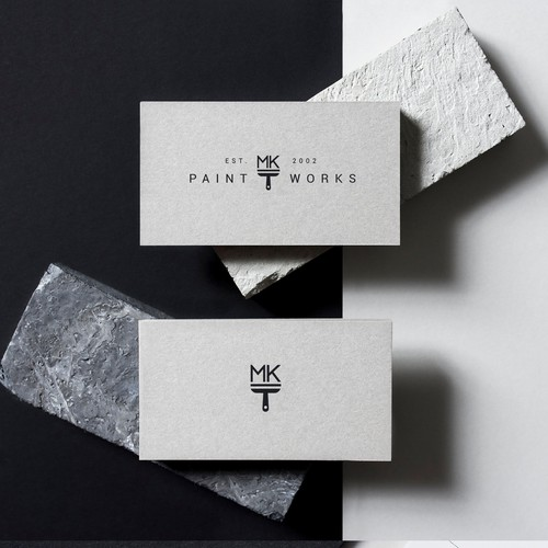 A timeless logo for a professional painting company.
