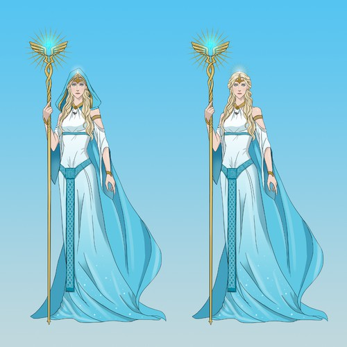 Character Design - Nordic Goddess