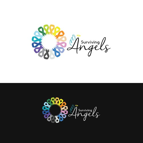 bold logo for Surviving Angels