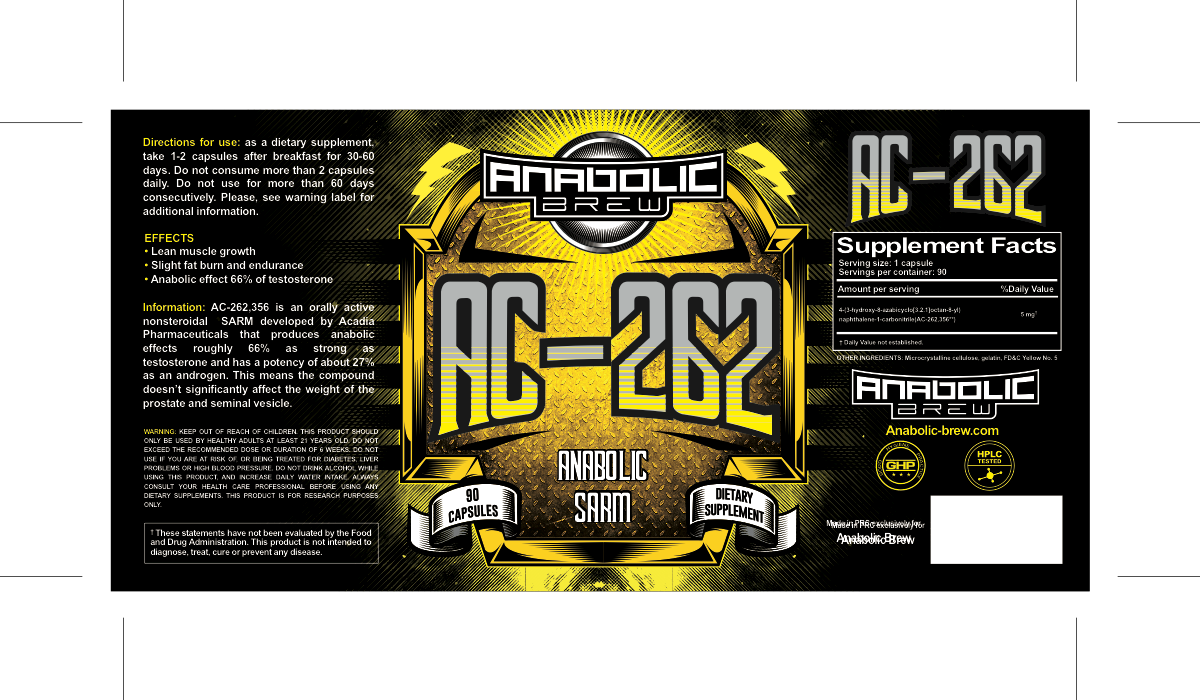 Anabolic brew label on the basis of Ostarine label
