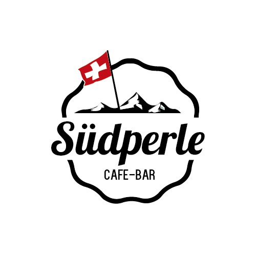 Logo proposal for SÜDPERLE Cafe & Bar in Switzerland