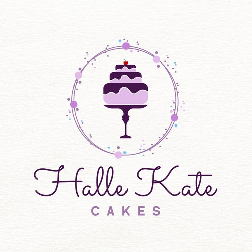 Logo design concept for a young girl in the cake industry