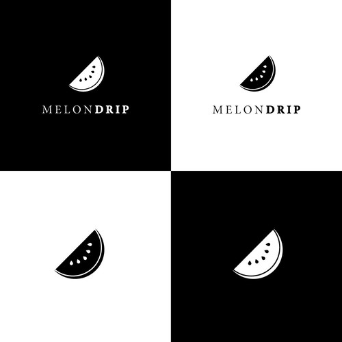 minimal logo for melon drip