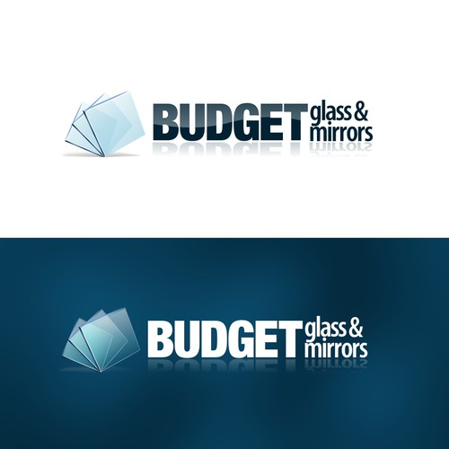 "Website logo for ""Budget Glass and Mirrors"""