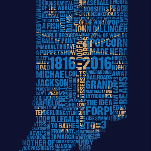 Indiana Bicentennial Typography