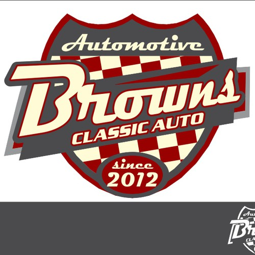 New logo and business card wanted for Brown's Classic Autos