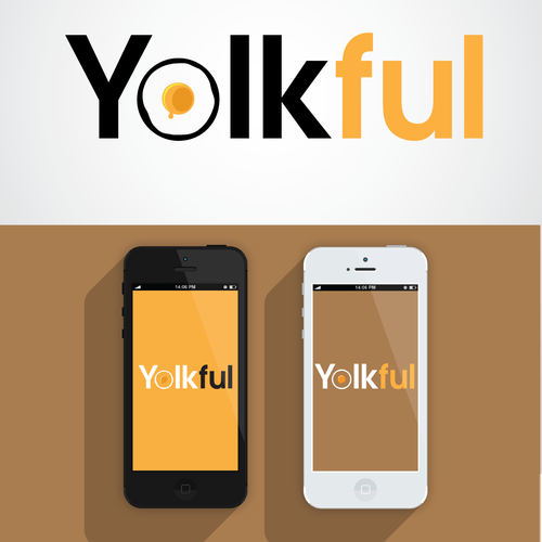 Create a Egg or young themed logo for Yolkful