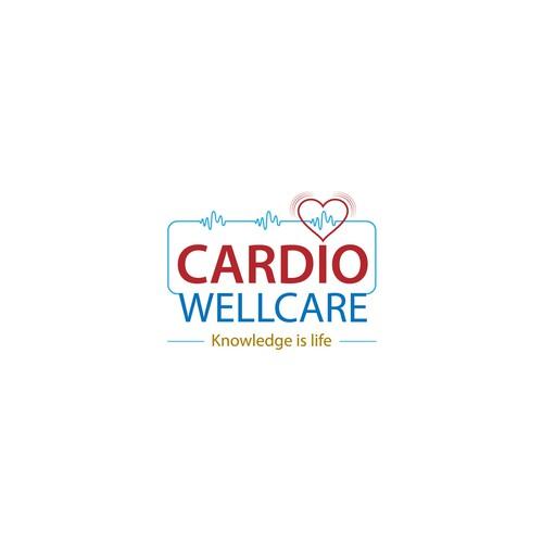 bold logo concept for CARDIO WELLCARE.