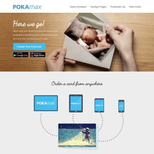 Pokamax Landing Page Design