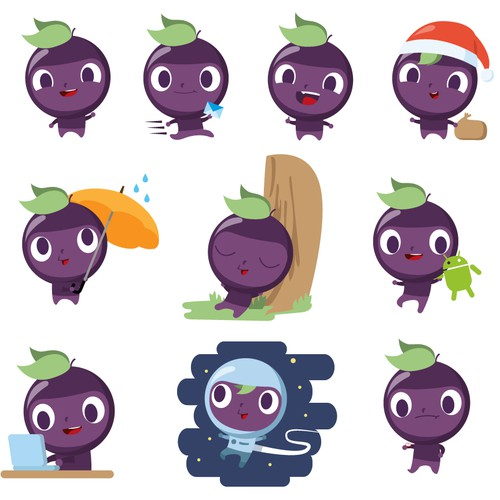 ChatGrape's mascot Trauby in new poses