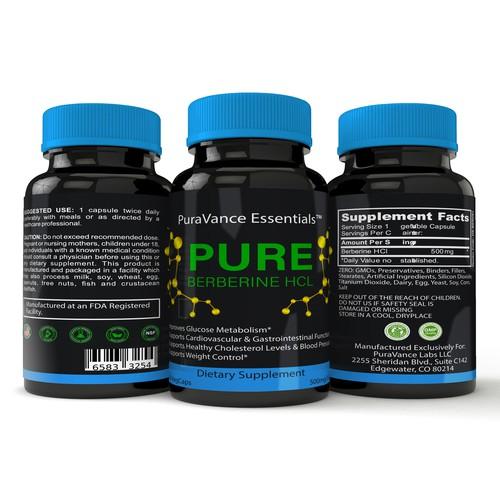 Design a eye catching bottle supplements
