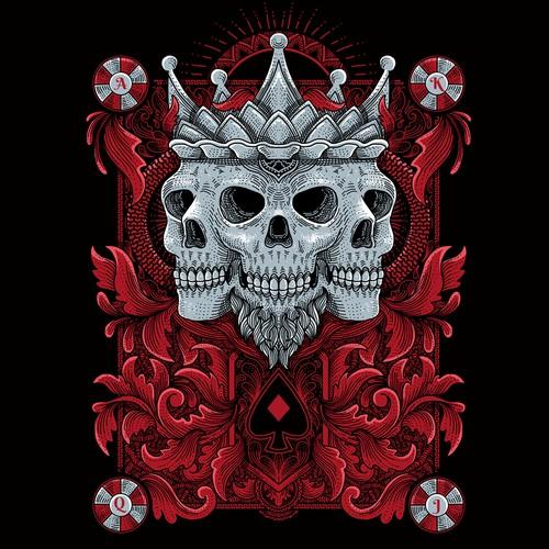 T-shirt Design for poker players' brand