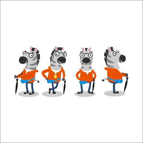 zebra mascot uniqe