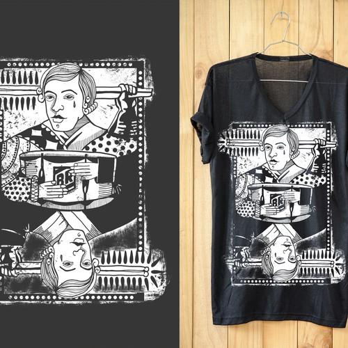 T-shirt design representing a King's Card