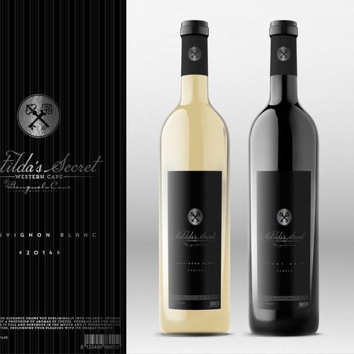 Matilda's Secret - Wine product range label design