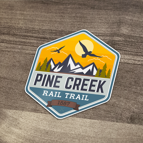Decal Design for Pine Creek Rail Trail