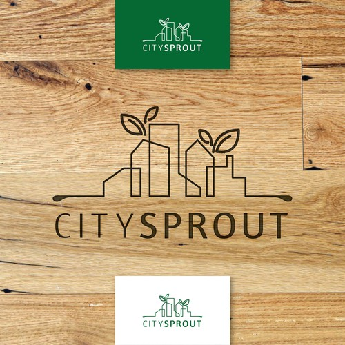 line art logo for citysprout