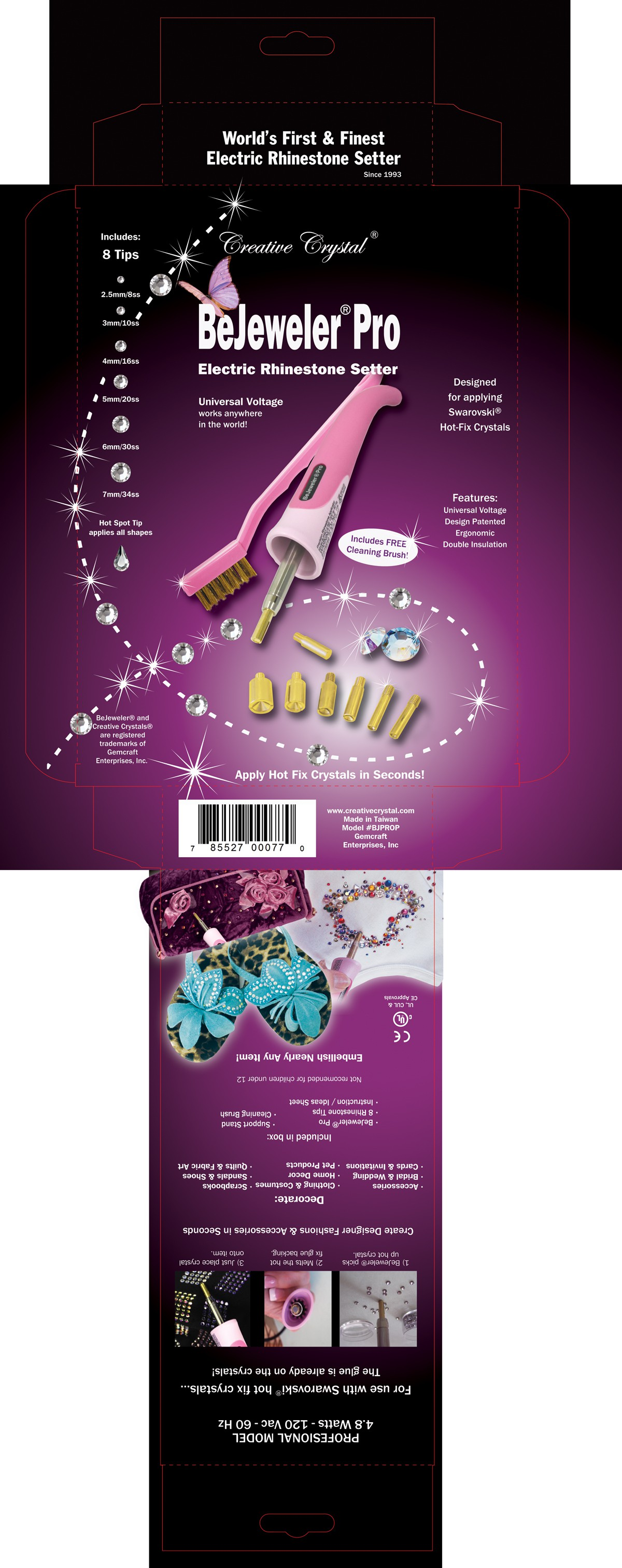 Help Gemcraft Enterprises, Inc (Creative Crystal) with a new packaging or label design