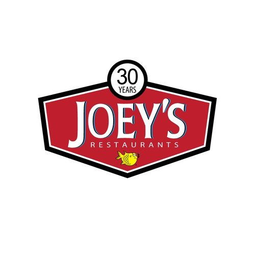 Create a 30th anniversary Logo for Joey's Restaurants