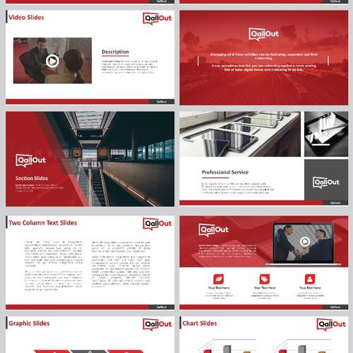 PPT slides for a live video debating website, QallOut.com