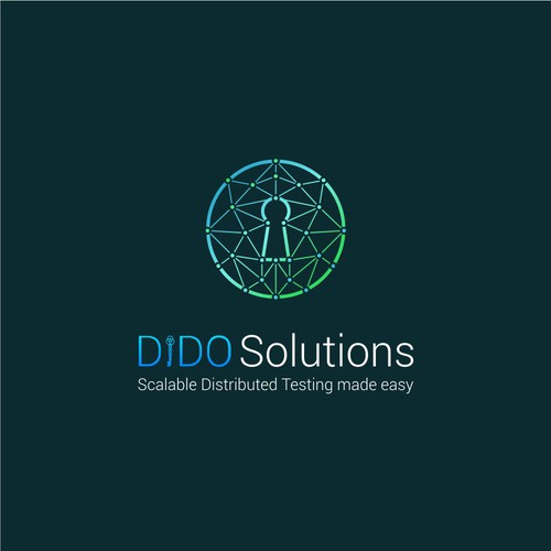 key low poly wireframe logo concept dido solution