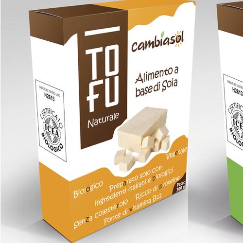 Tofu & Tempeh package design