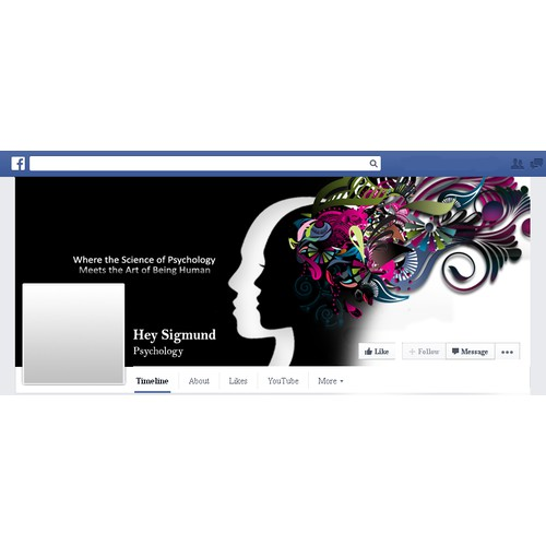 Create an amazing Facebook page for a psychology blog