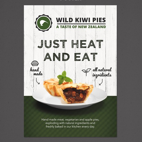 Advertising pack for new meat pie company