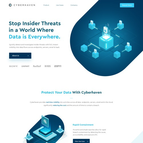 Cyber Haven Website Design