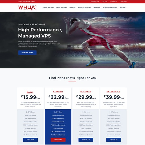 Windows VPS Landing Page