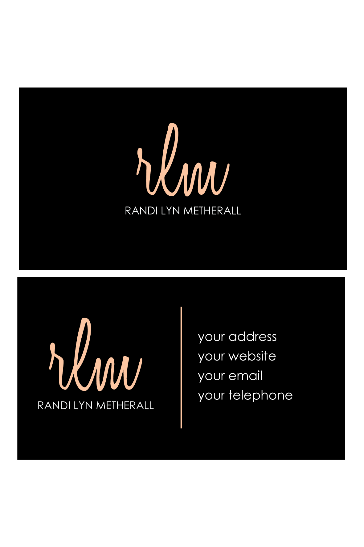 stationery for Randi Lyn Metherall