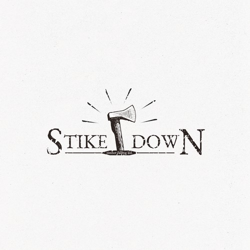 Timber Falling Company Logo Design