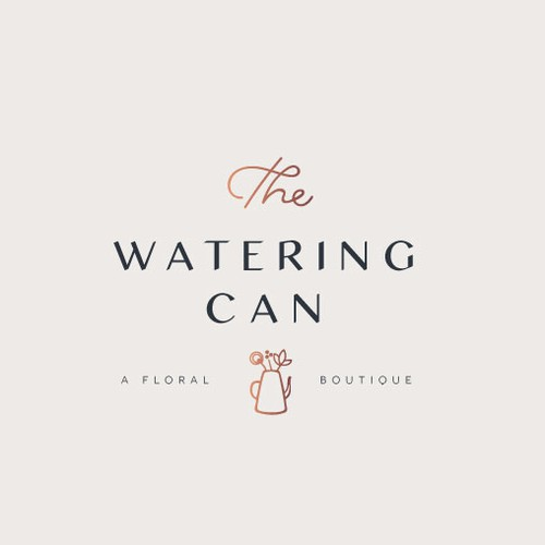 logo re-design draft for the watering can