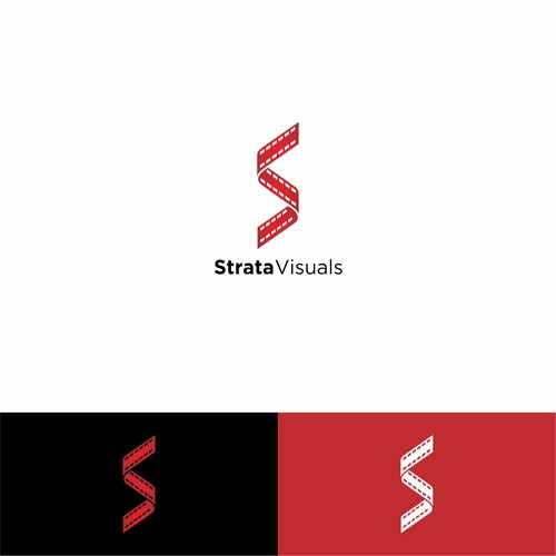 Simple and smart logo for Strata Visuals