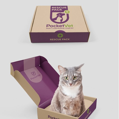 Packaging for a veterinary first aid kit for pets