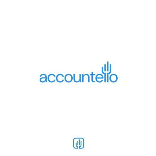 Typographic logo for Accountello