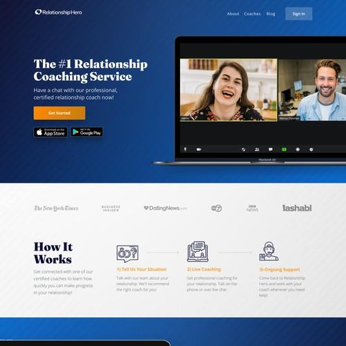 Online relationship coaching website