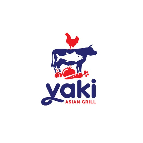 Logo design for Yaki Asian Grill
