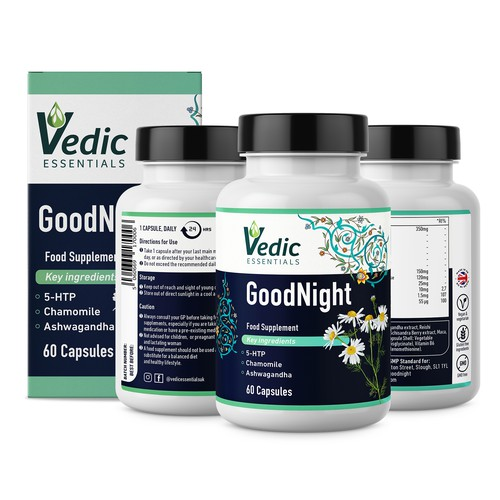 Vedic GoodNight Food Supplement Capsules